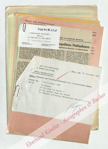 Erhard, Ludwig, Politiker und Wirtschaftswissenschaftler (1897-1977).