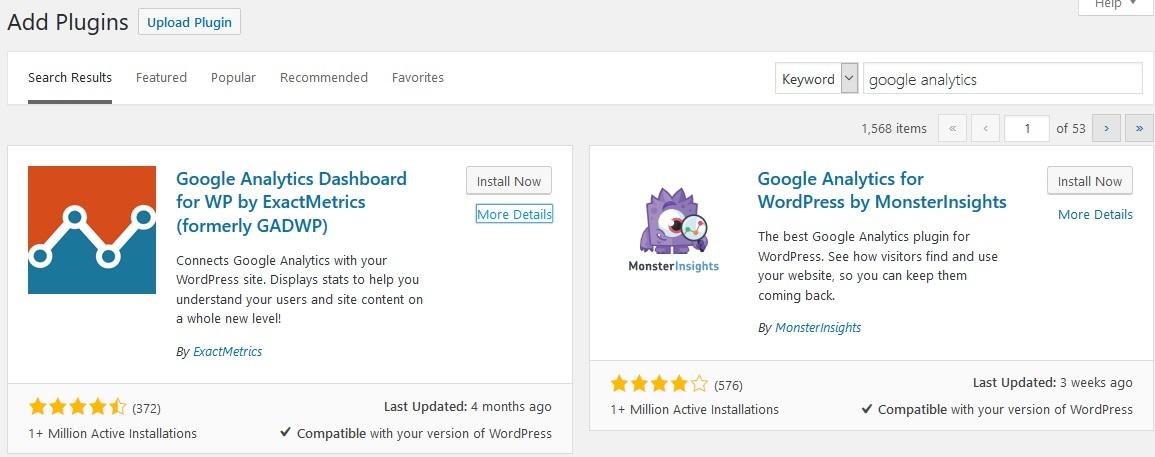 plugin wordpress google analytics