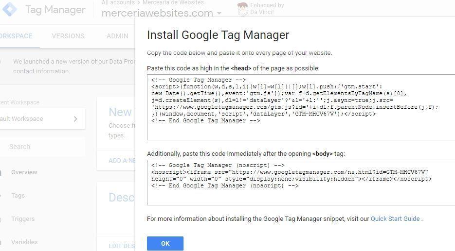código do google tag manager