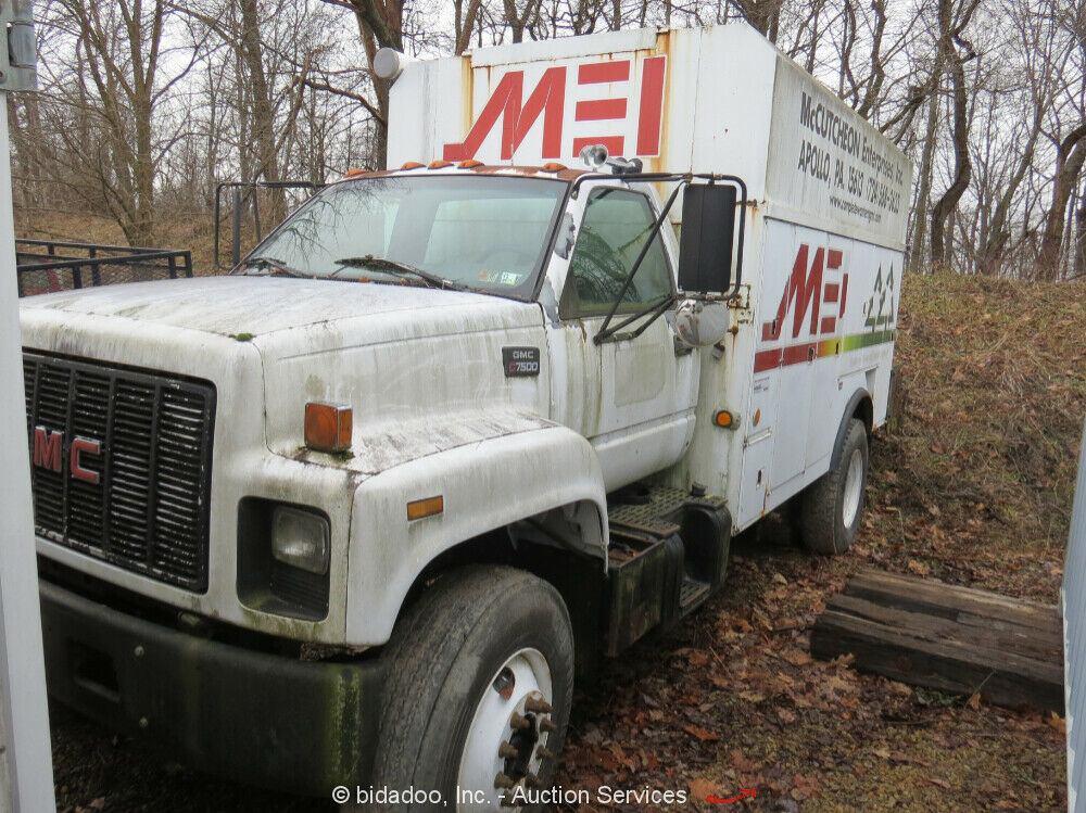 1995 GMC C7500 Adkins Body Mechanics Service Truck Cat 3126 Diesel – Parts/Repair