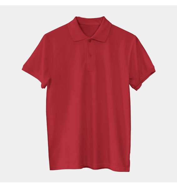 Solids: Maroon Polo