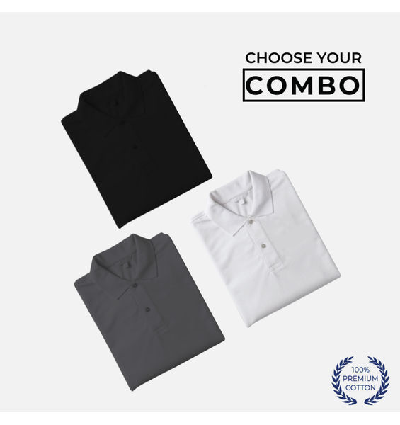 Pack of 3 (Polo): Choose your own combo