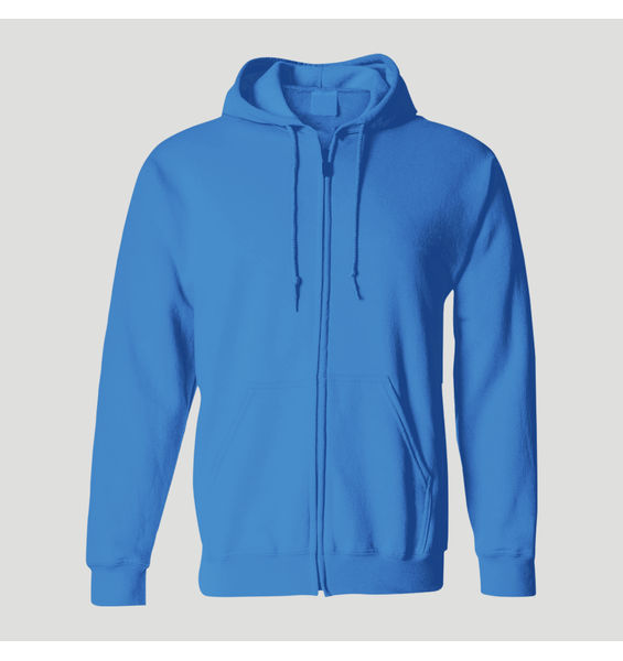 Solids: Hoodie with Zipper