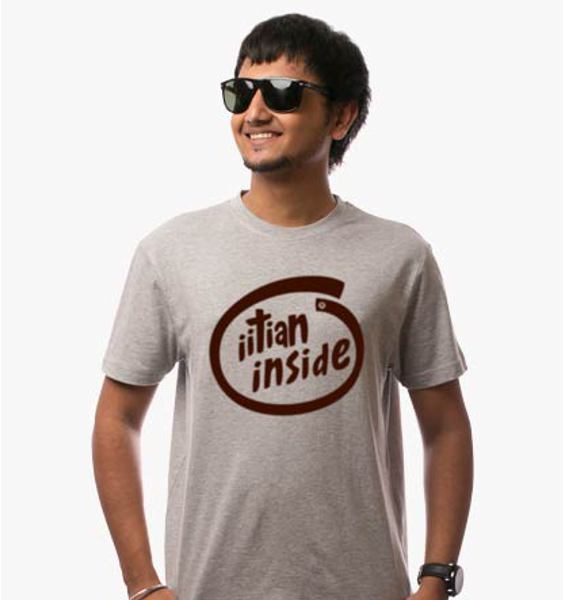 IITian Inside Grey tee