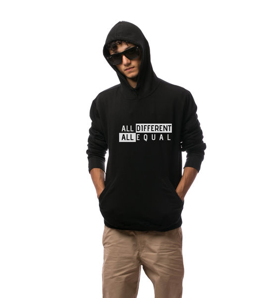 All Different All Equal Hoodie-Black