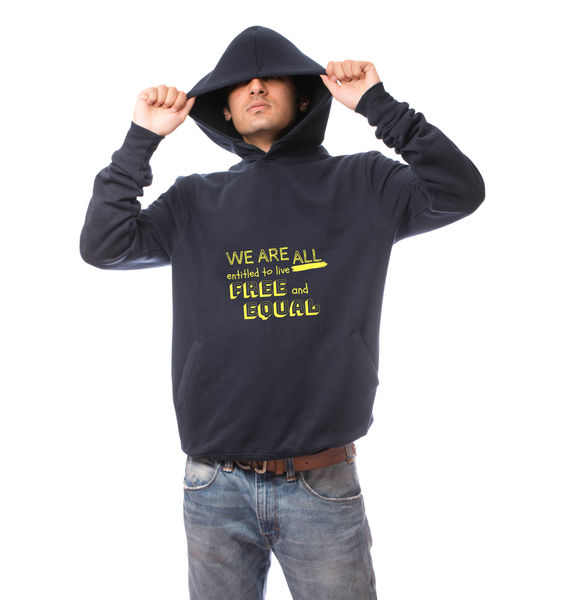 All Free All Equal Hoodie-Navy Blue