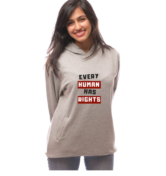 Every Human has Rights Hoodie-Grey
