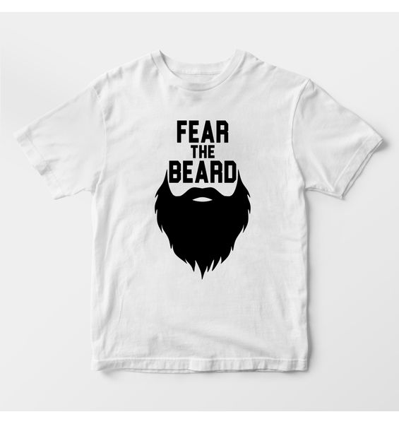 Fear the Beard White t-shirt