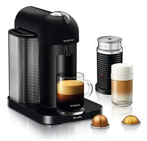Nespresso Vertuo Coffee and Espresso Machine Bundle with Aeroccino Milk Frother by Breville