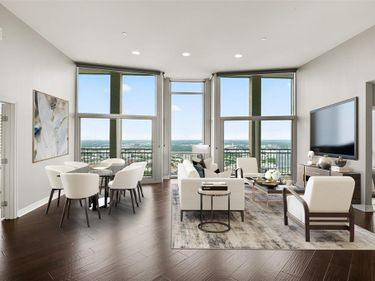 Living Room, 500 Throckmorton Street #3407, Fort Worth, TX, 76102,