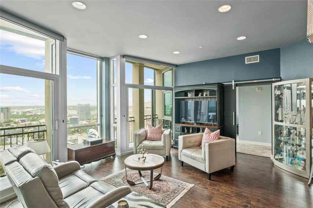 Living Room, 500 Throckmorton Street #2007, Fort Worth, TX, 76102,