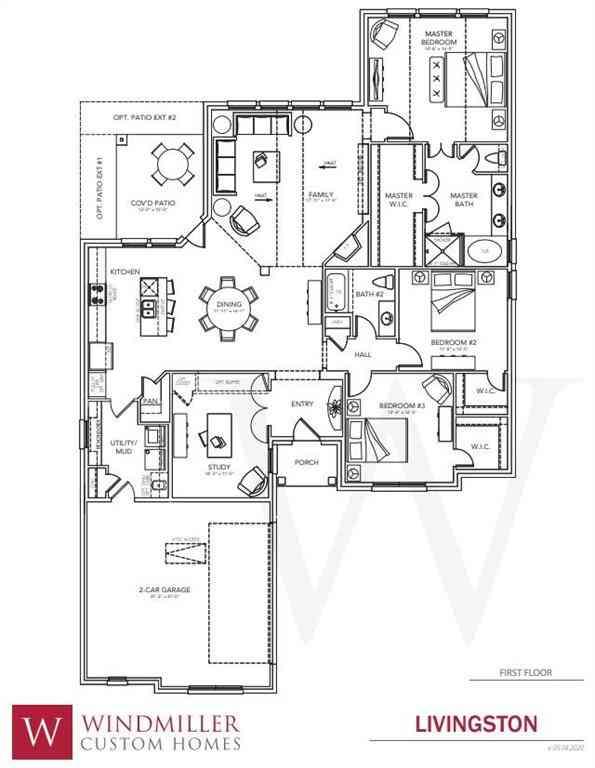 Floor Plan, 308 W Paddock, Willow Park, TX, 76087,