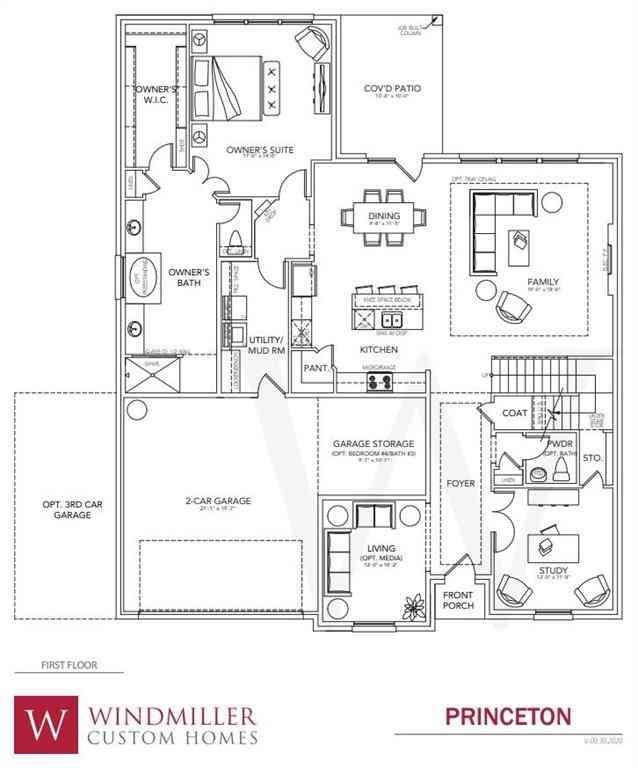 Floor Plan, 112 W Furlong, Willow Park, TX, 76087,