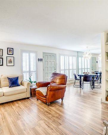 Sunny Living Room, 6050 Birchbrook Drive #144 Dallas, TX, 75206