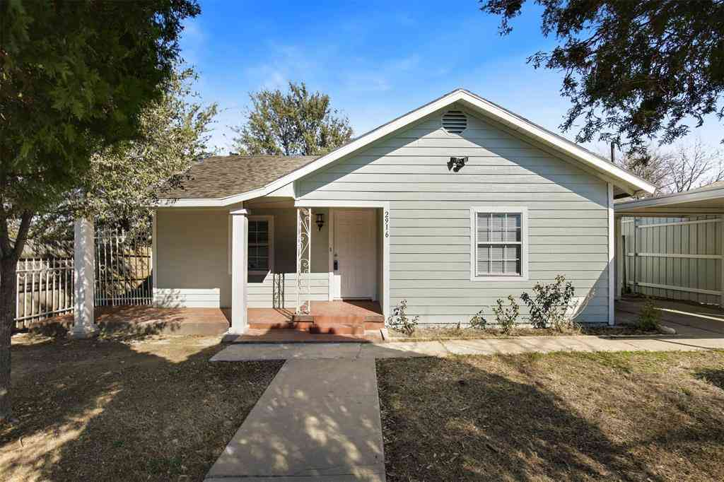 2916 27th Street, Fort Worth, TX, 76106,