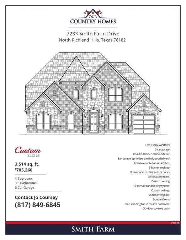 7233 Smith Farm Drive, North Richland Hills, TX, 76182,
