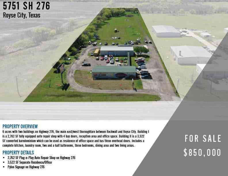 5751 State Highway 276, Rockwall, TX, 75189,