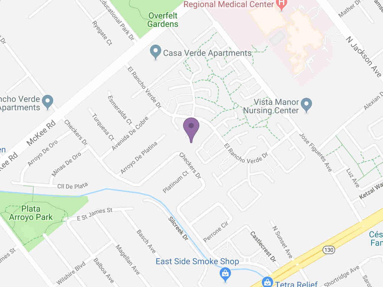 Location:, 190 Checkers DR San Jose, CA, 95116