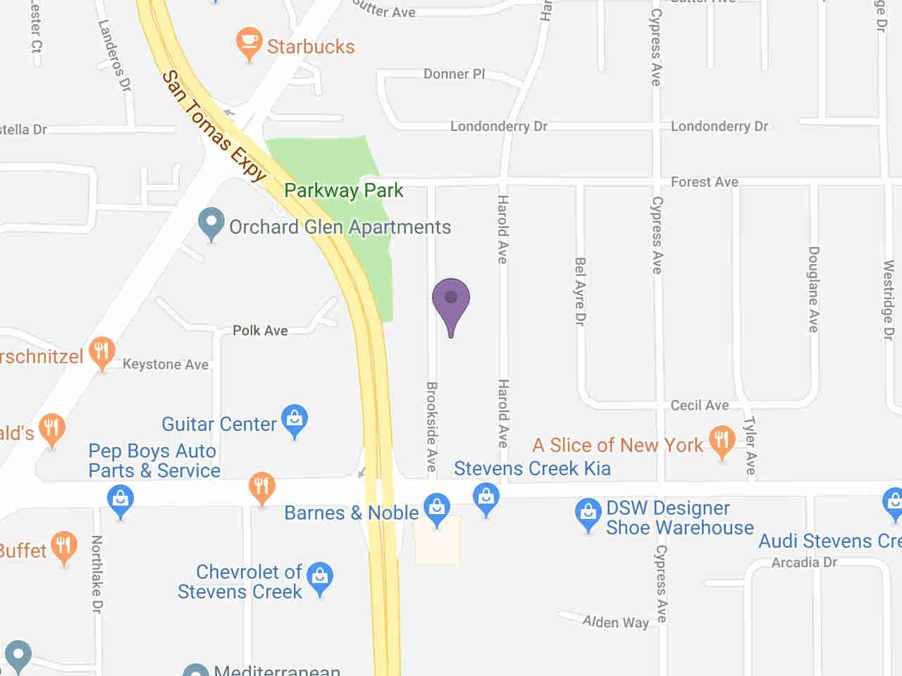 Location:, 105 Harold AVE Santa Clara, CA, 95050