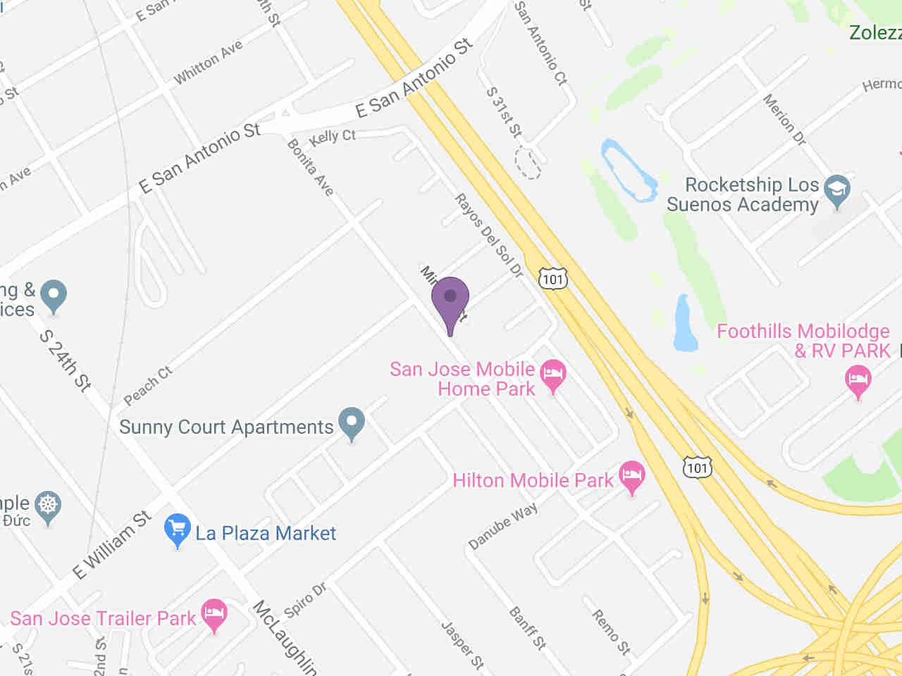 Location:, 425 Bonita AVE San Jose, CA, 95116
