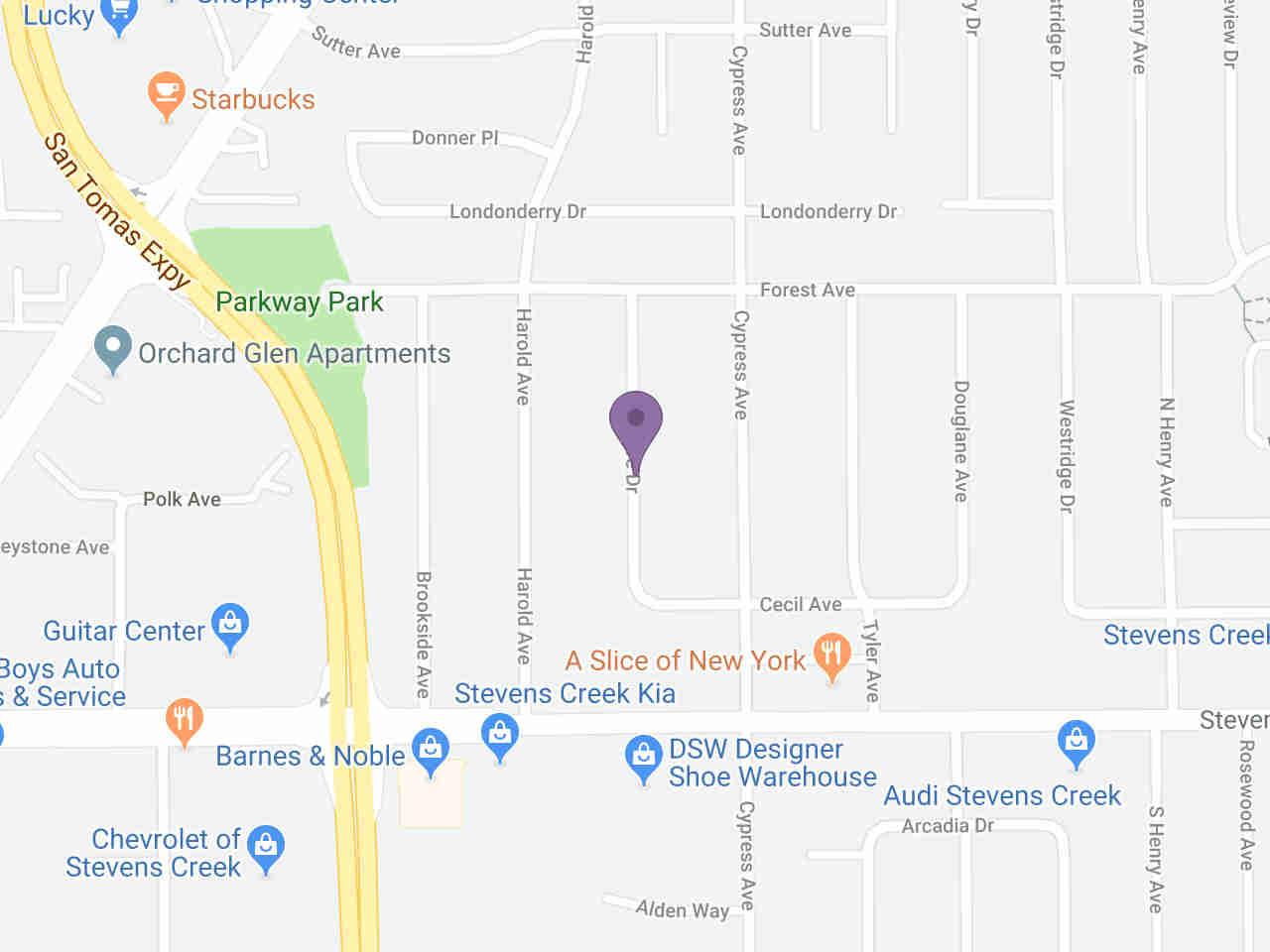 Location:, 197 Bel Ayre DR Santa Clara, CA, 95050