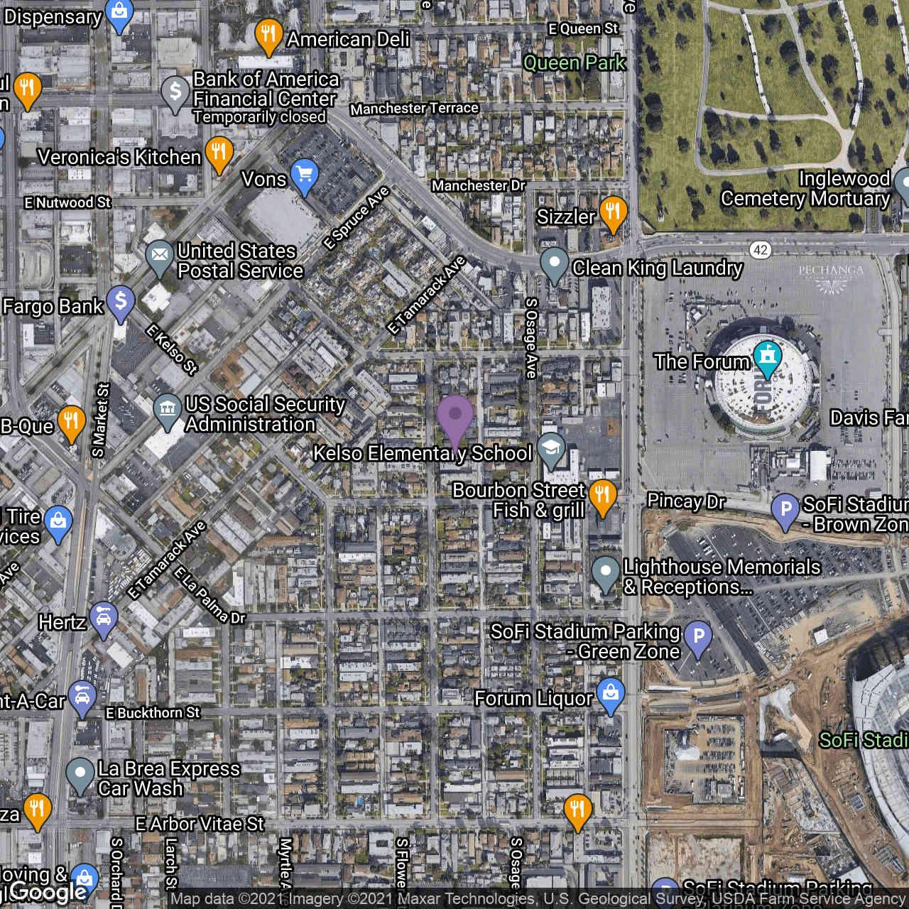 532 South Flower Street, Inglewood, CA, 90301,