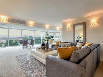 Sunny Living Room, 101 Alma Street #1003, Palo Alto, CA, 94301,