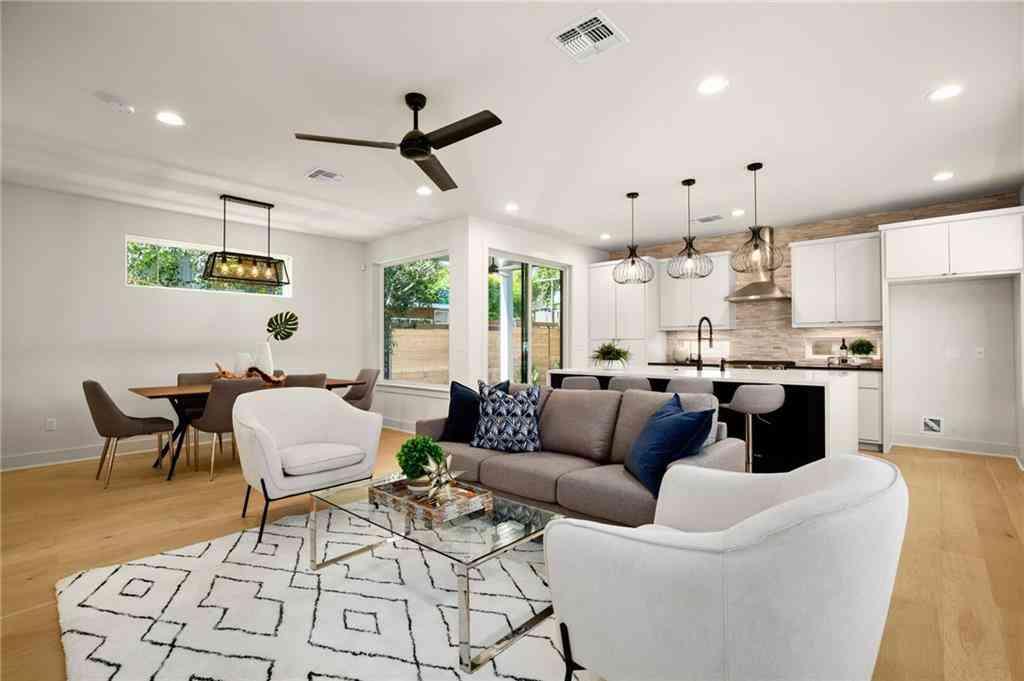 Sunny Living Room, 1306 Navasota ST, Austin, TX, 78702,