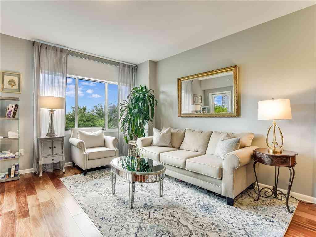 Sunny Living Room, 54 Rainey ST #510, Austin, TX, 78701,