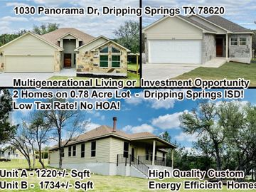 1030 Panarama DR #A & B, Dripping Springs, TX, 78620,