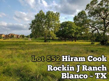 Lot 552 Hiram Cook, Blanco, TX, 78606,