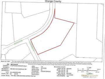 None Bricewood Lane, Cedar Grove, NC, 27231,