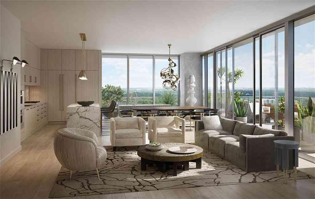 Living Room, 202 Nueces ST #2004, Austin, TX, 78701,