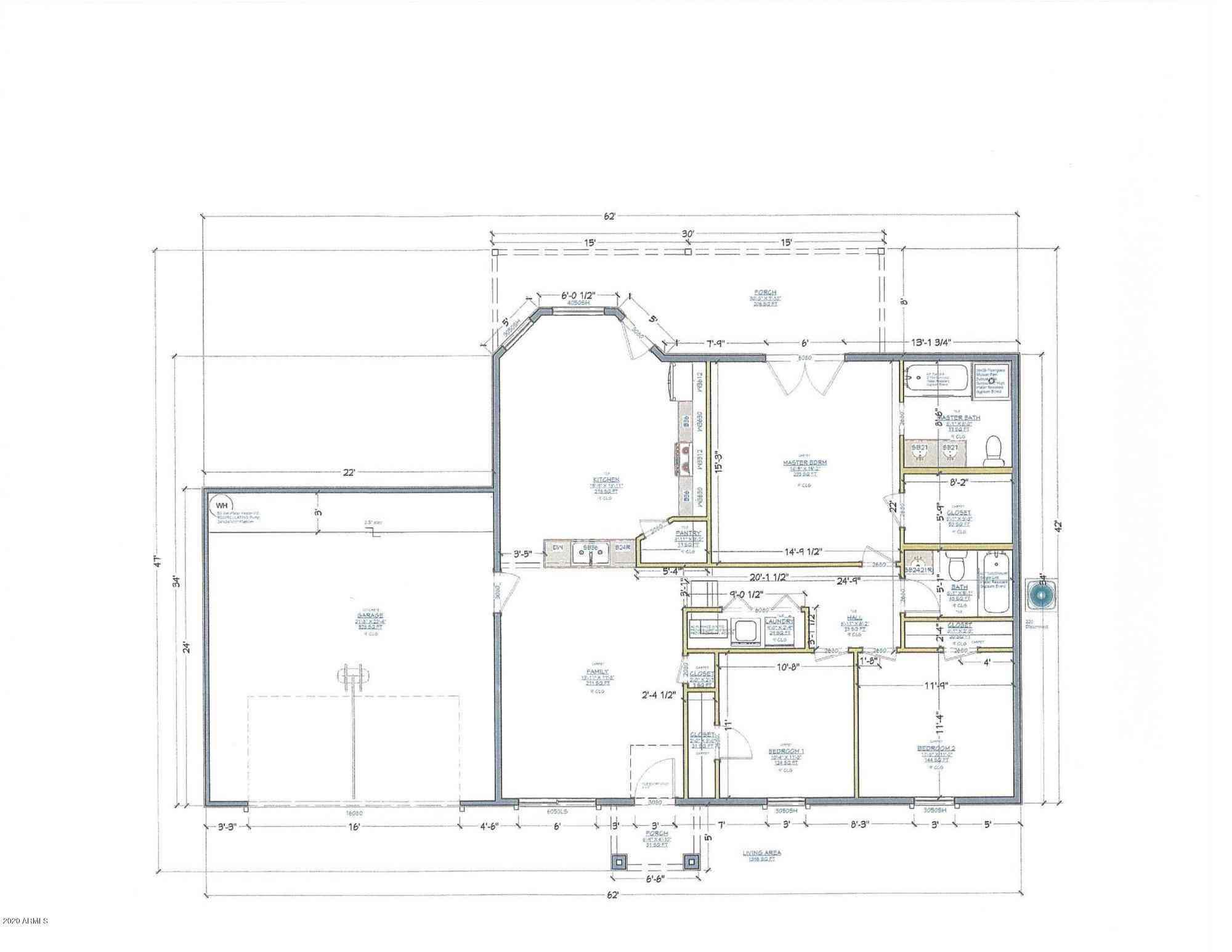 Floor Plan, 15330 E 4TH Avenue, Apache Junction, AZ, 85120,