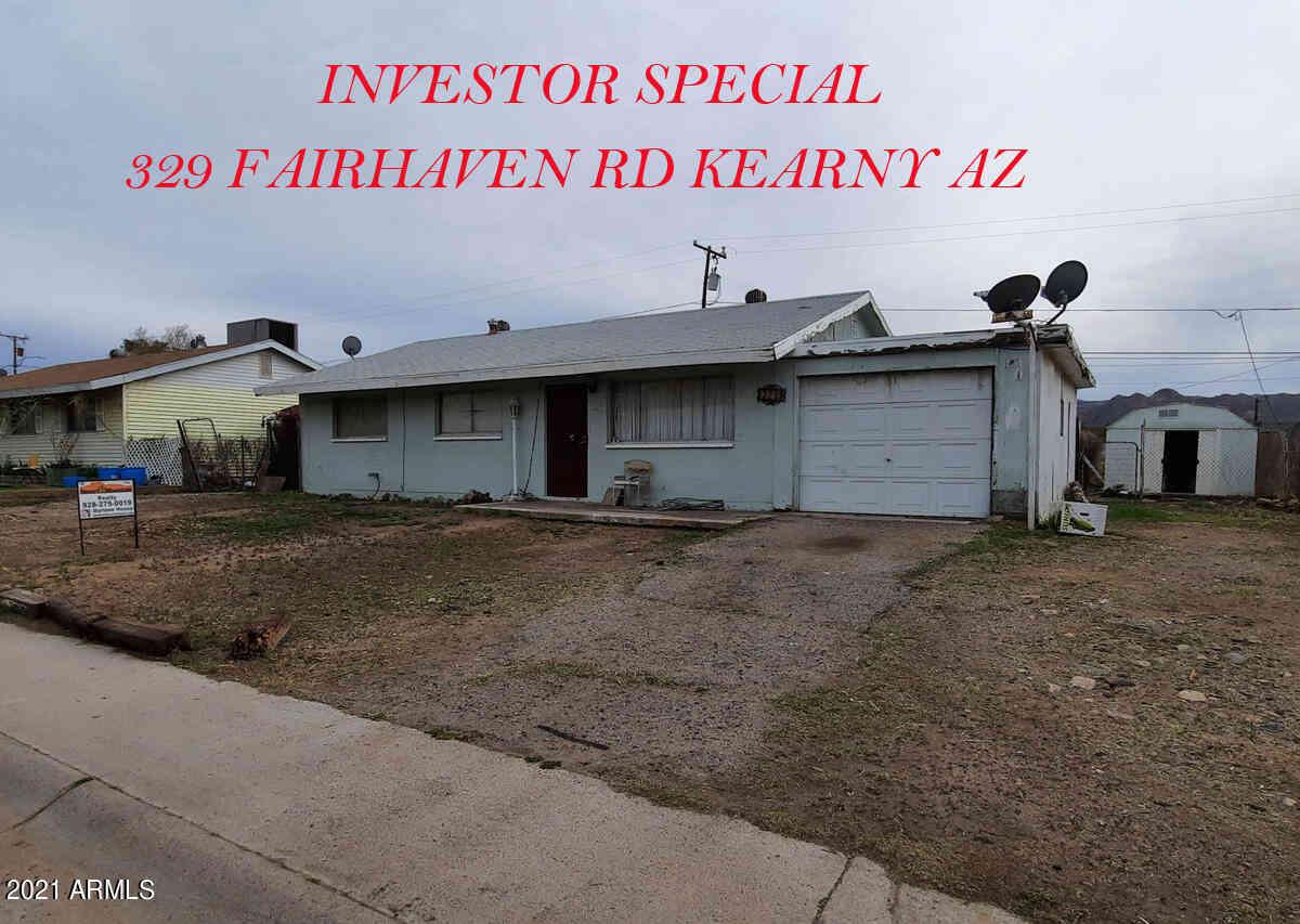 329 W Fairhaven Road, Kearny, AZ, 85137,