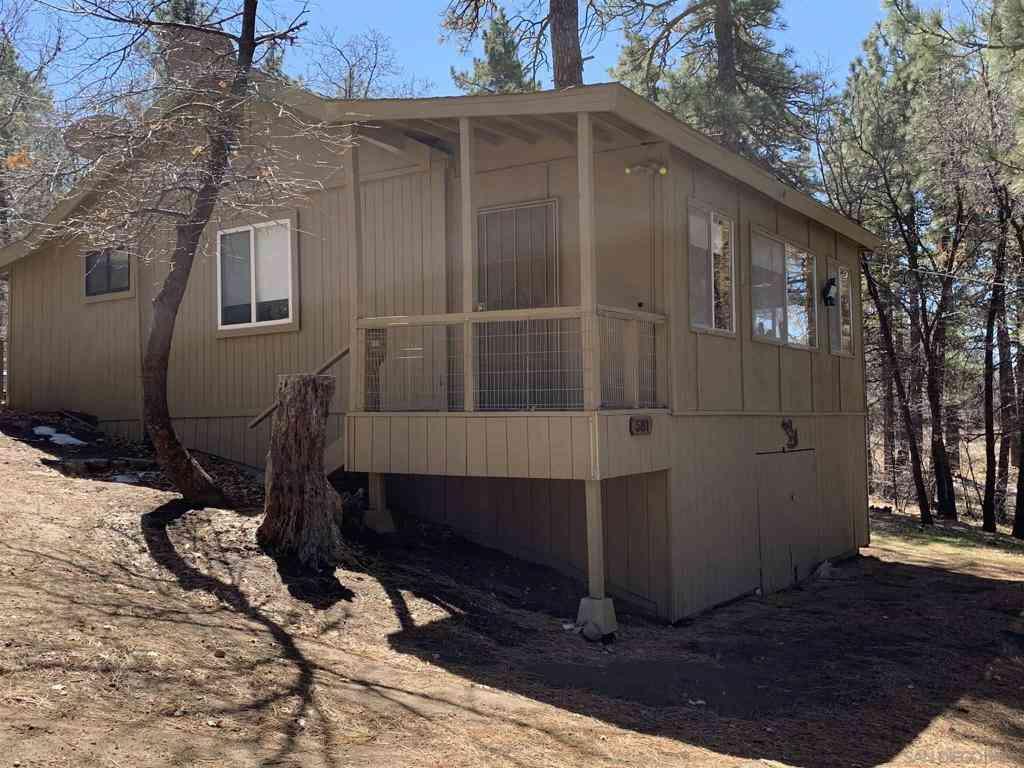 581 E El Centro Tract, Mount Laguna, CA, 91948,
