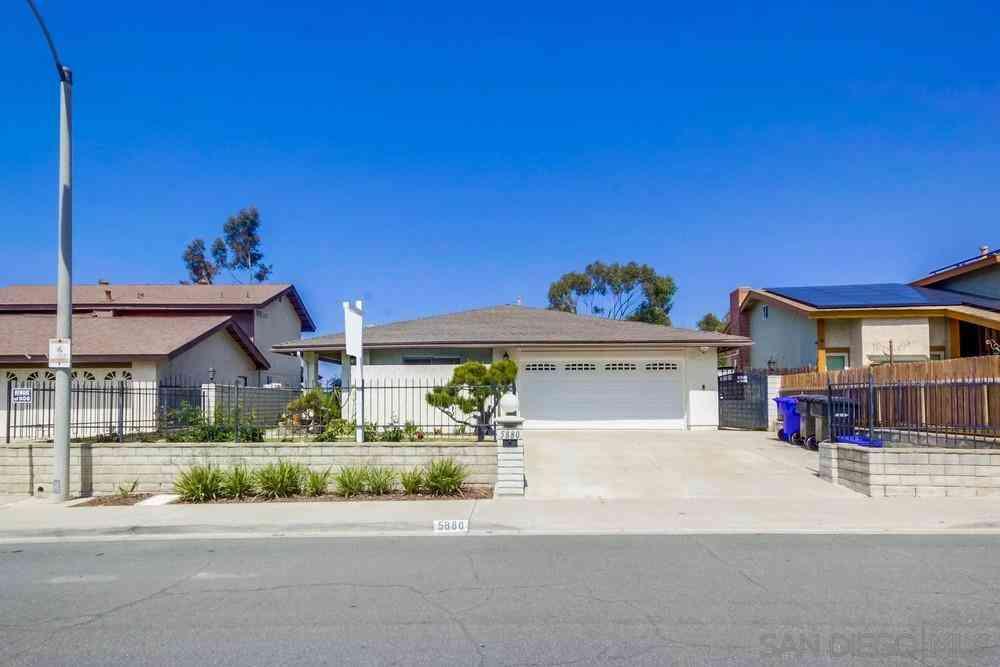 5880 Chaumont Dr, San Diego, CA, 92114,