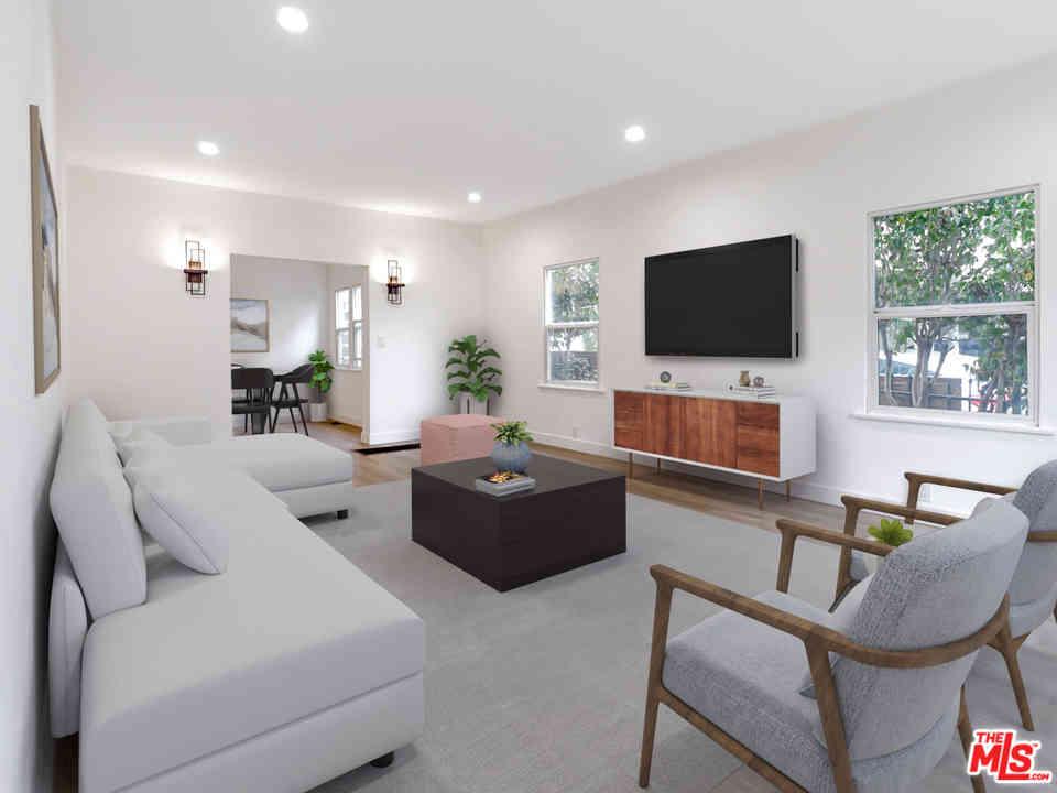 Sunny Living Room, 1325 Masselin Avenue #1, Los Angeles, CA, 90019,