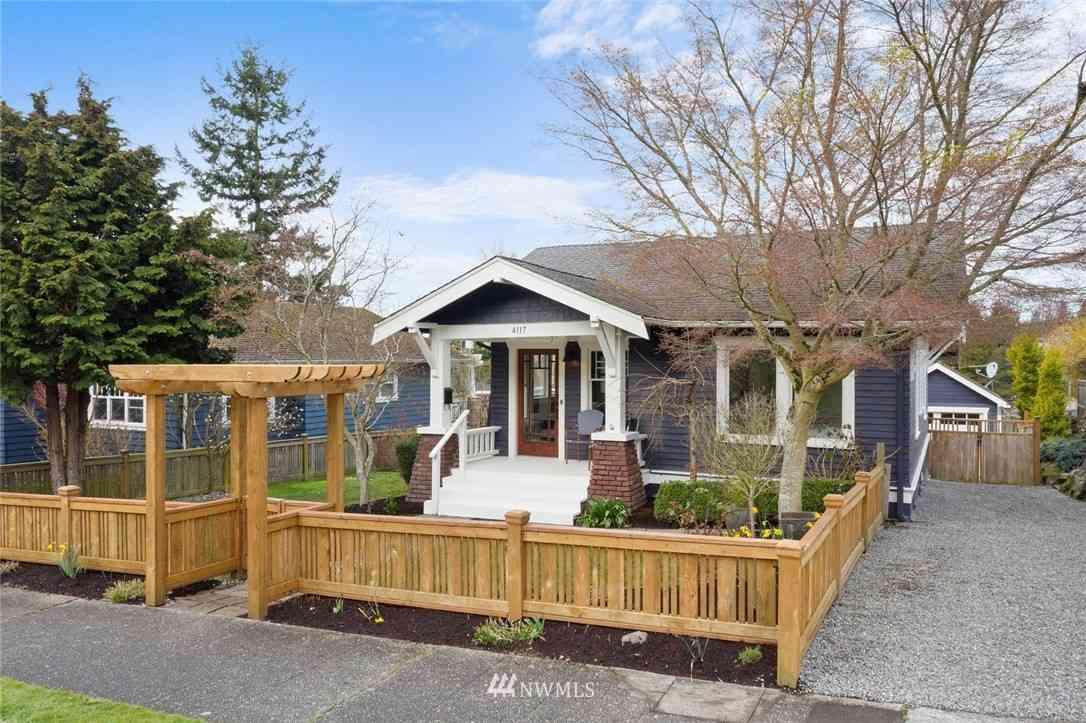 4117 45th Avenue SW, Seattle, WA, 98116,