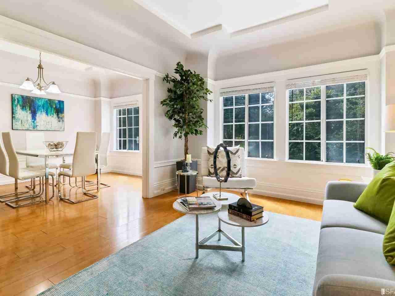 Sunny Living Room, 3412 Fulton Street San Francisco, CA, 94118