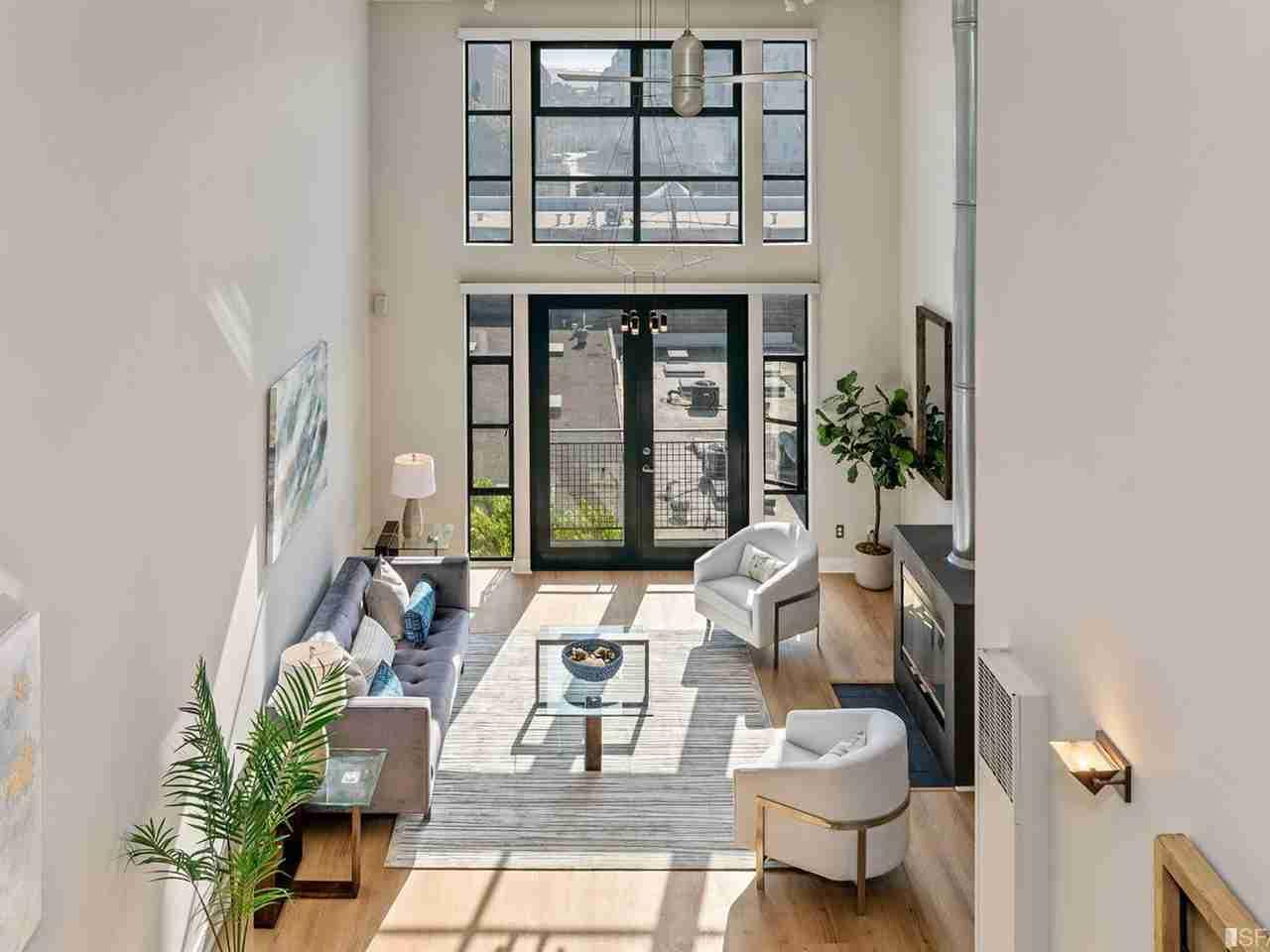 Sunny Living Room, 161 Gilbert Street #11 San Francisco, CA, 94103
