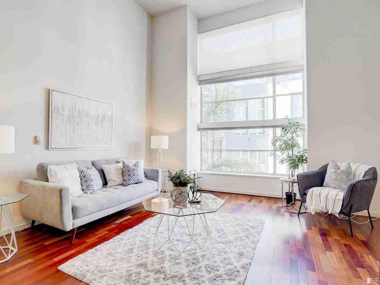 Sunny Living Room, 175 Bluxome Street #210 San Francisco, CA, 94107