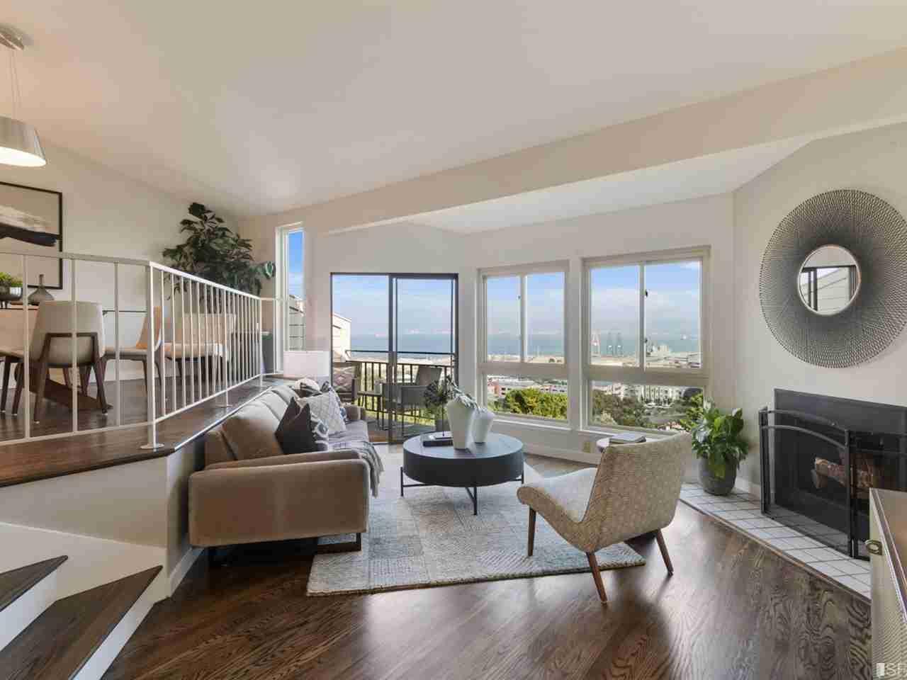 Sunny Living Room, 30 Hawkins Lane San Francisco, CA, 94124