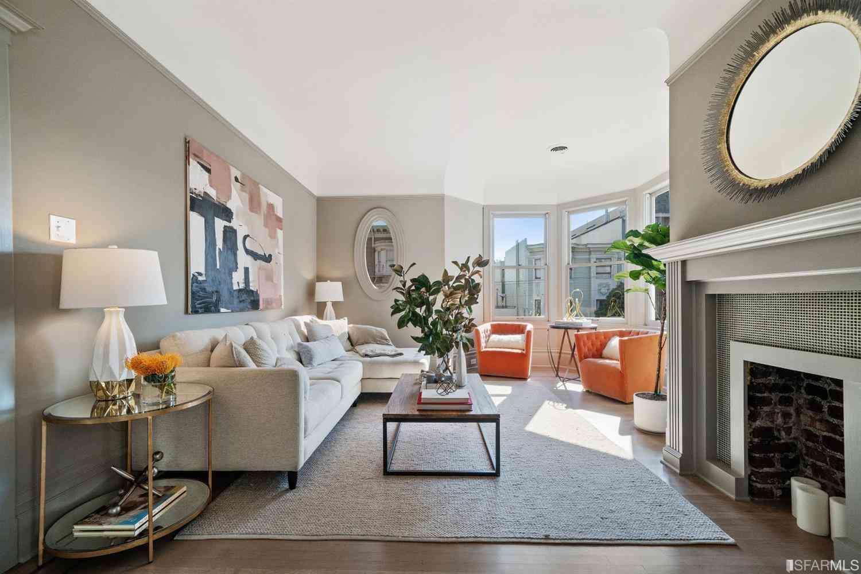 Sunny Living Room, 1356 Grove Street, San Francisco, CA, 94117,