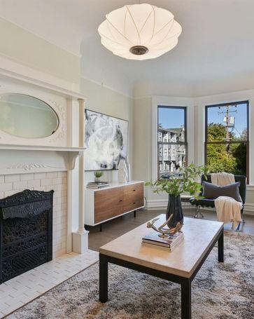 Sunny Living Room, 843 14th Street San Francisco, CA, 94114