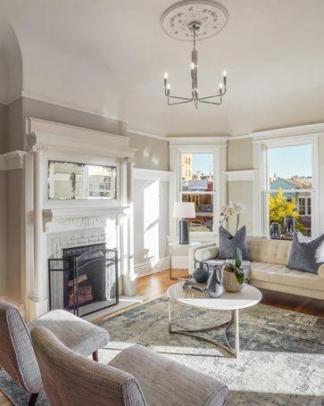 Sunny Living Room, 1565 McAllister Street San Francisco, CA, 94115