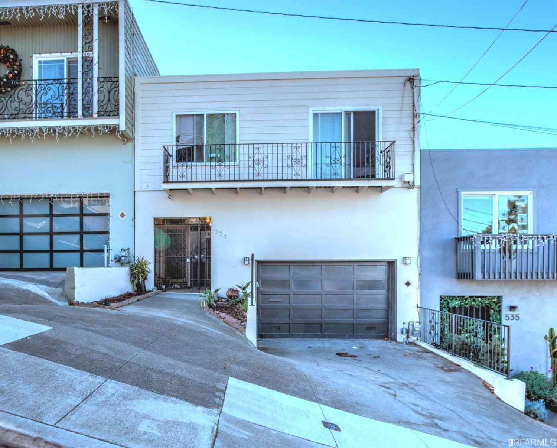 531 Orizaba Avenue, San Francisco, CA, 94132,
