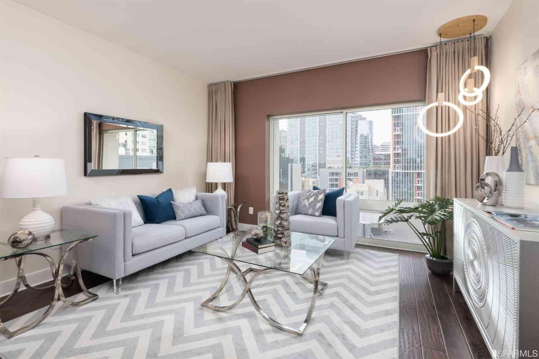 Sunny Living Room, 50 Lansing Street #505, San Francisco, CA, 94105,