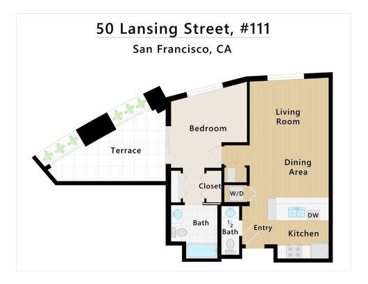 50 Lansing Street #111