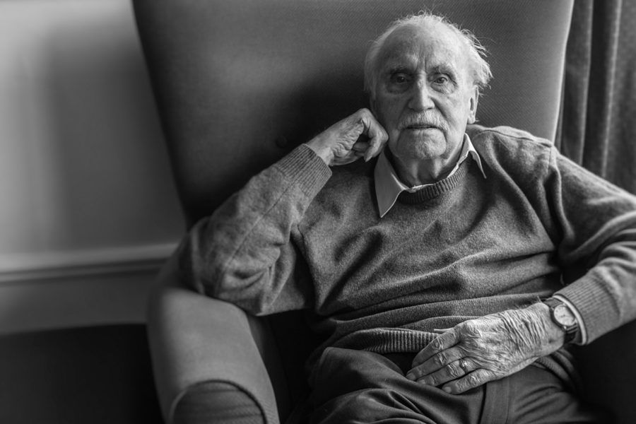 Monochrome portrait of BLESMA resident Conrad Thornton
